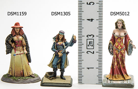 Size of Dark Sword Miniatures