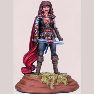 Female Warrior - Red Cloak
