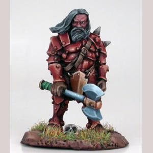 Male Dwarven Fighter with Assorted Weapons
