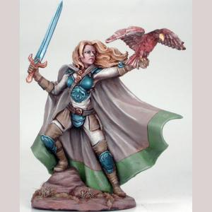 Female Ranger with Falcon and Long Sword