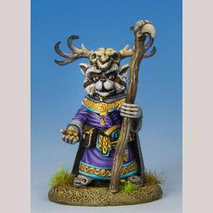 Raccoon Druid with Stafff