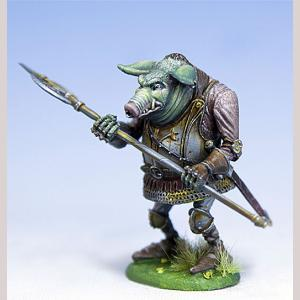 Orc of the Otus Clan with Halberd