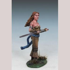 Angelica - Female Half Elven Warrior with Sword