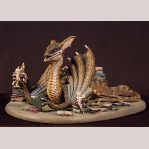 Book Wyrm - Dragon Diorama Set
