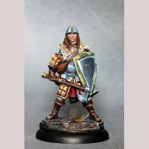 Male Warrior with Battle Axe and Shield