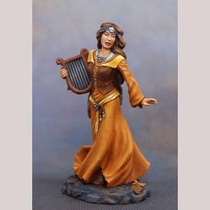 Female Bard with Harp