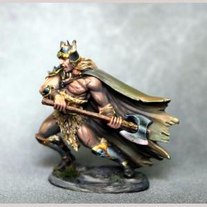 Male Barbarian with Battle Axe