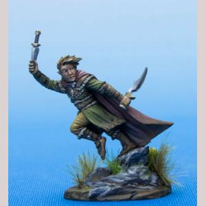Male Halfling Rogue with Daggers