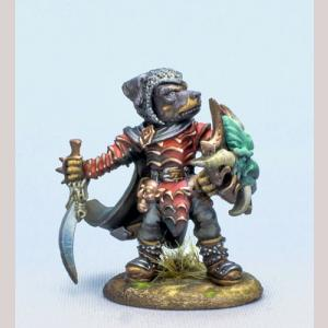 Rottweiler Warrior with Sword and Shield
