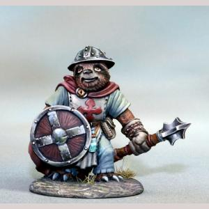 Sloth Cleric with Mace and Shield