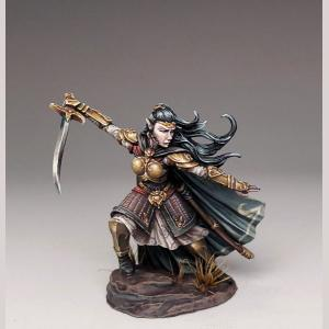 Female Elven Warrior with Scimitar