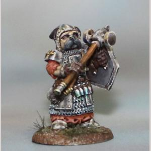 Pug Cleric with Mace