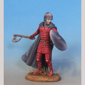 Male Warrior with Axe & Shield