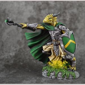 Dragonkin Cleric with Mace & Shield